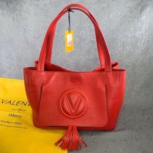 Valentino Ollie Dollaro Leather Tassel Tote Bag